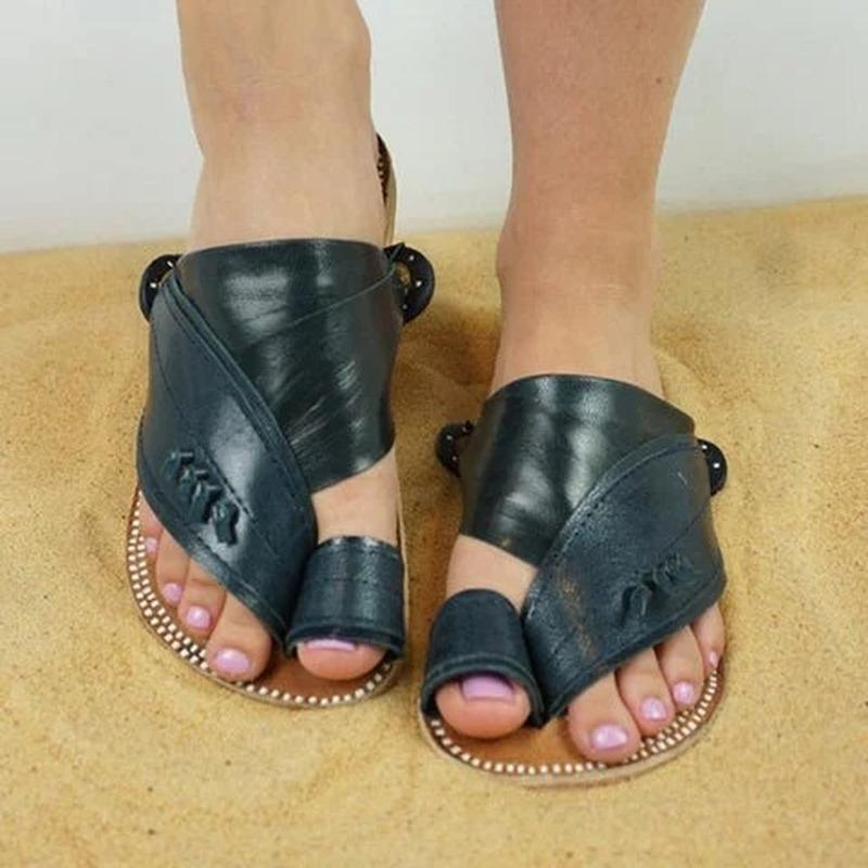 les femmes chaussures plates été femme plage chiquenaude string glisse chausson extérieur bohême douce, plus la taille sandalias mujer sapato femininoN226