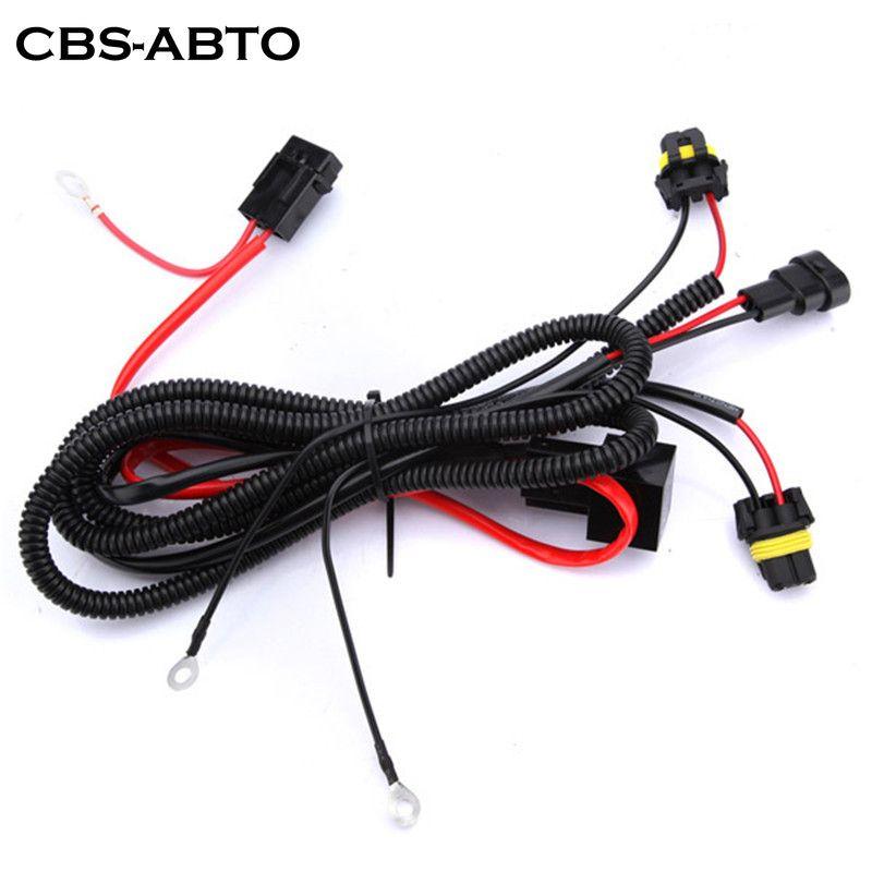 HID 라이트 릴레이 하네스 와이어 라이트 컨트롤러 어댑터 플러그 램프 케이블 배선 변환 키트 CBS H1 H3 H7 H8 H9 H11 6분의 9,005