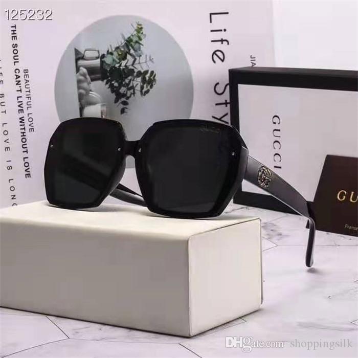 2019 neue Groß Rahmen polarisierte Sonnenbrille weibliche Art und Weise Sonnenbrille fahren fahrer Brille stern