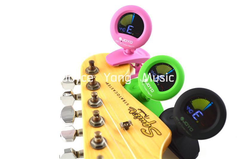 Gitar Bas TunerMetronome 3 Renk Ücretsiz Kargo ile JOYO JMT-01 Yuvarlak Renk LCD Ekran Klip