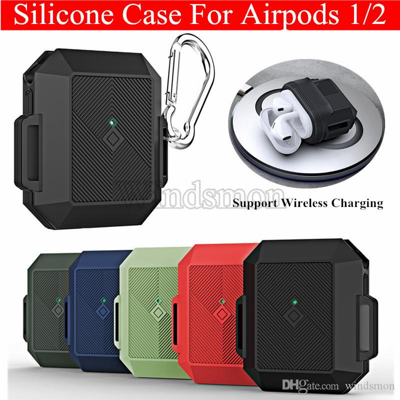 Silicone Earphone Case For Apple Airpods 1/ 2 Cover For AirPods Bluetooth Charging Box Case Ultra Thin AirPods Protective Cover