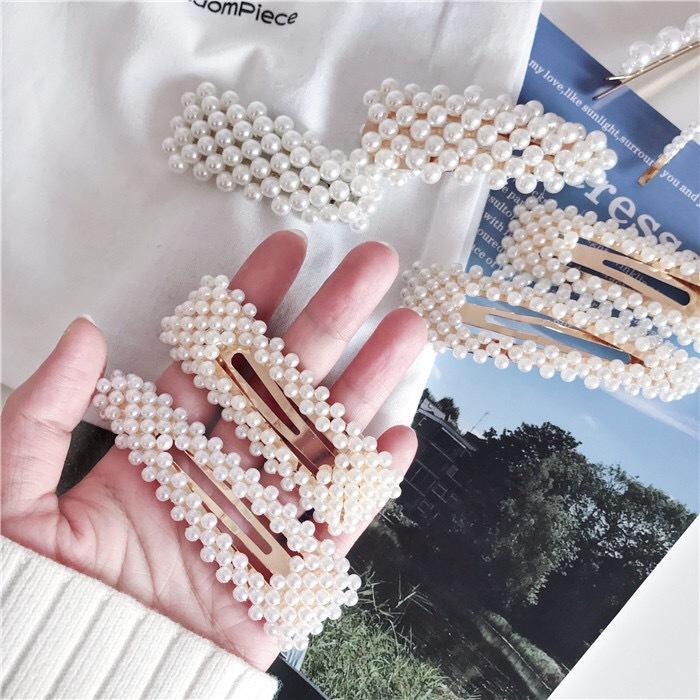 Perno di capelli della clip di capelli del metallo della clip dei capelli della clip di capelli della perla di rettangolo di goccia di figura del triangolo di alta qualità di yiwu 2019