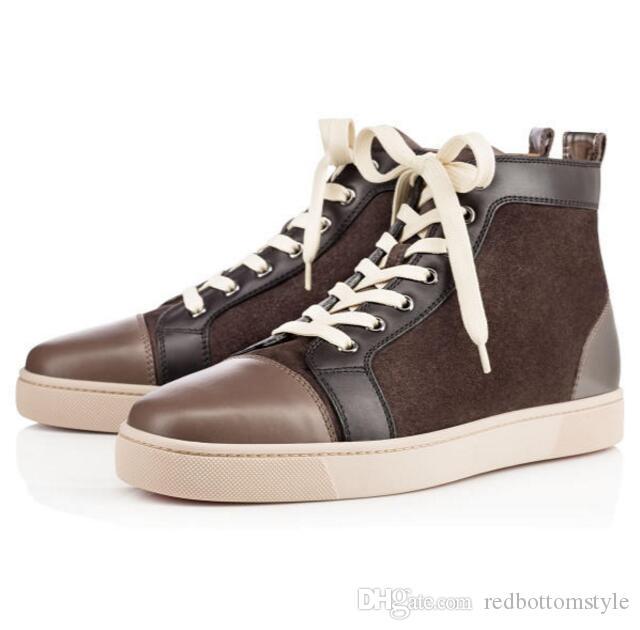 Новые Прибывшие дизайнерские туфли Шипастые Шипы Плоская обувь Обувь с красной подошвой Мужская Женская Вечеринка Любителей Натуральная Кожа Кроссовки размер 36-47 C7877