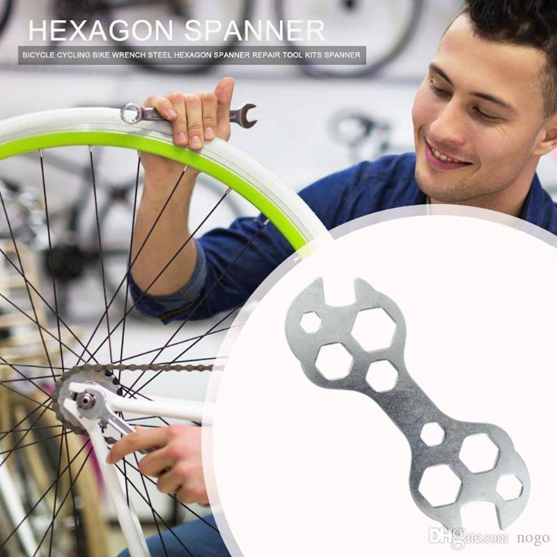 15 In 1 Repair Tool Multi Function MTB Bike Bicycle Steel Wrench Hexagon Spanner