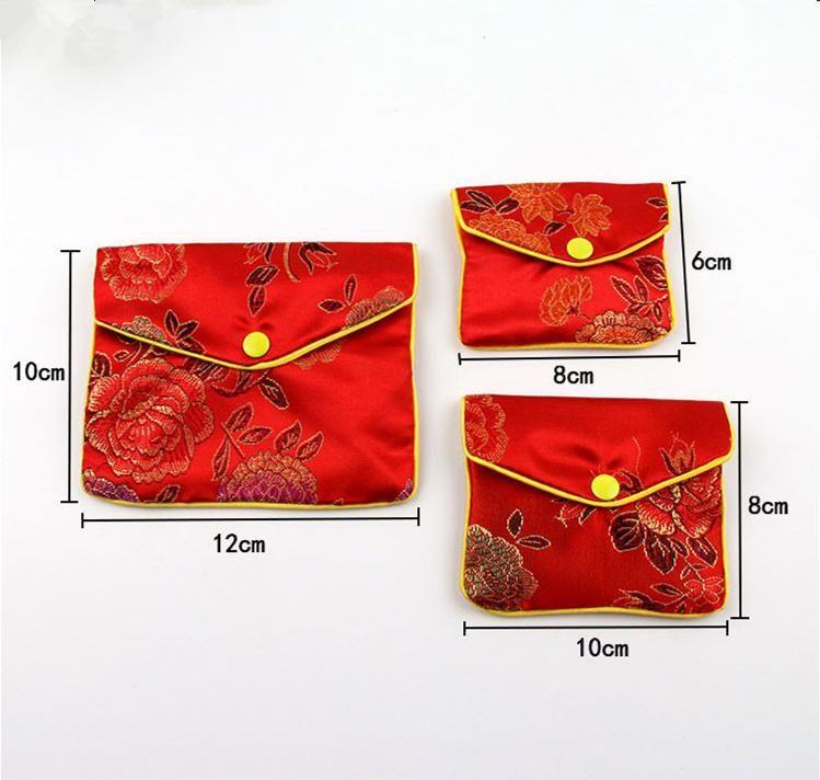 رخيصة زيبر المحفظة الصغيرة كوين حقيبة الصينية الحرير القطيفة مجوهرات الحقيبة حقيبة هدية الحقائب حقيبة المرأة البسيطة بالجملة 6x8cm 100pcs التي 8x10cm