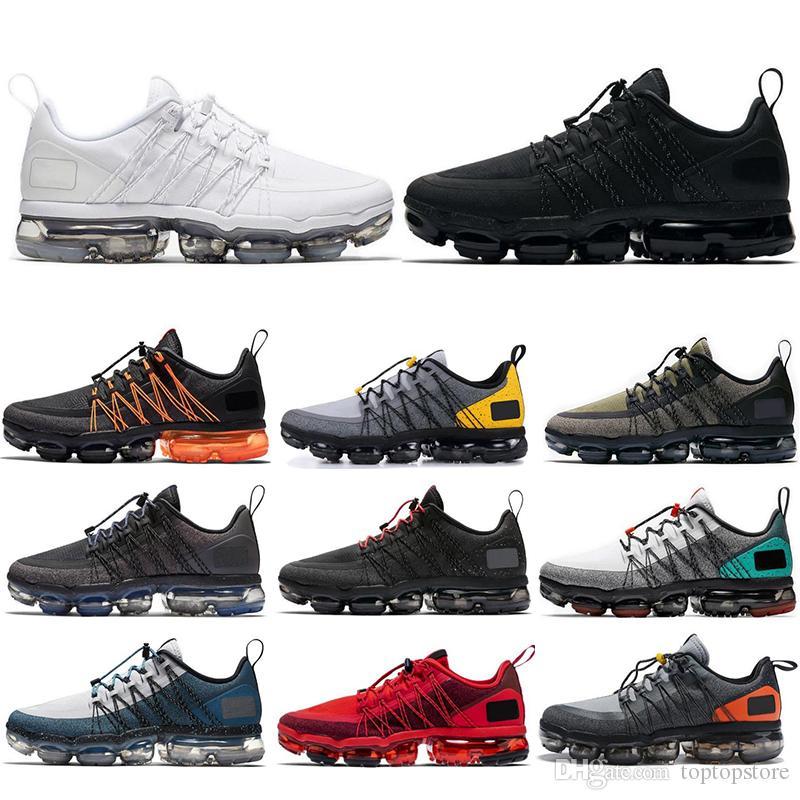 Nike Air Vapormax Run Utility Zapatillas de deporte para hombre sheos Run Utility Zapatillas de deporte para hombre Zapatillas de deporte triple negro blanco TROPICAL TWIST