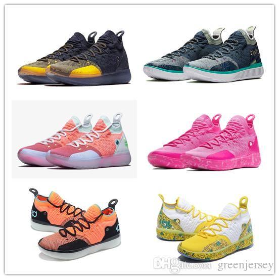 판매 새 케빈 듀란트 (11) 농구 신발 디자이너 야외 신발 사이즈 40-46위한 2019 좋은 KD 11 이모 진주 신발