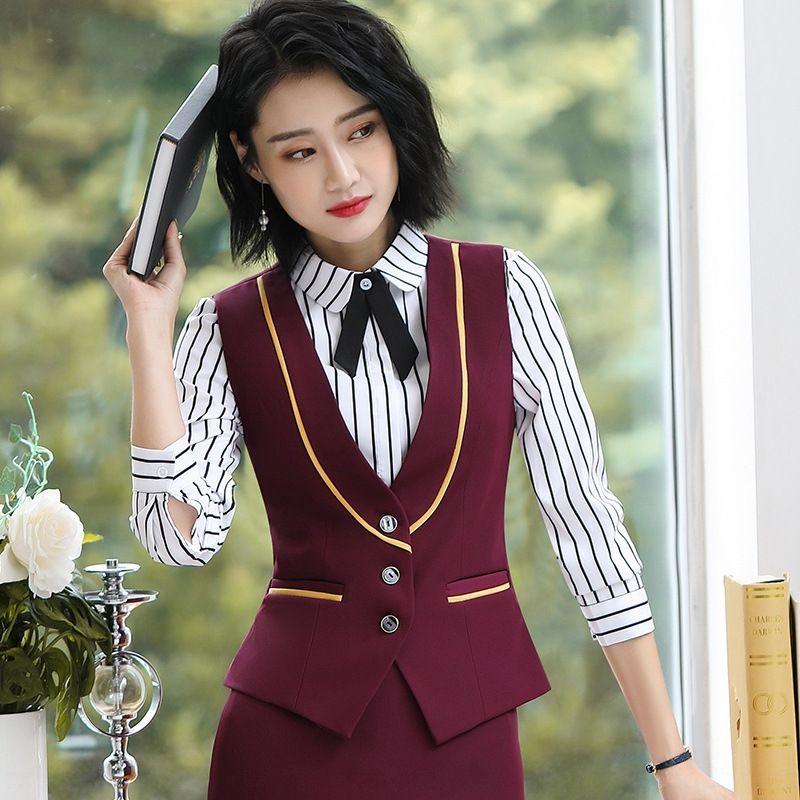 vHMef 3306 desgaste formal das mulheres profissionais terno short versátil banco outono do estudante 3306 desgaste formal profissional terno feminino curto Versat