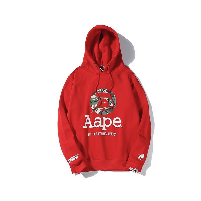 Calle invierno gruesa para hombre sudaderas con capucha de cachemira de las mujeres de manga larga Fleece Sudadera de lujo suéter Hiphop blusa roja r41 B103563L