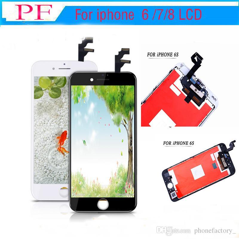 Haut brigtness LCD pour iphone 6s d'affichage à cristaux liquides de catégorie A pour 7 8 écran tactile Digitizer réparation Assemblée Pas de pixels morts 100% testé