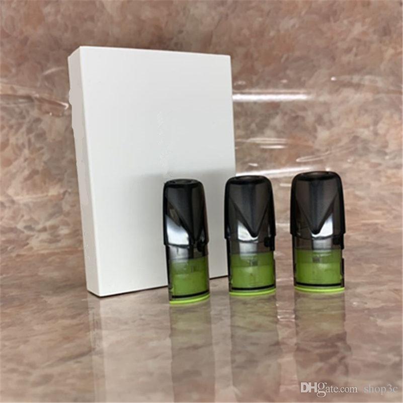 3 unidades / pacote Vagens Vazias para Kit de bateria Relx da fábrica diretamente com Pod de alta qualidade com Caixa de Varejo