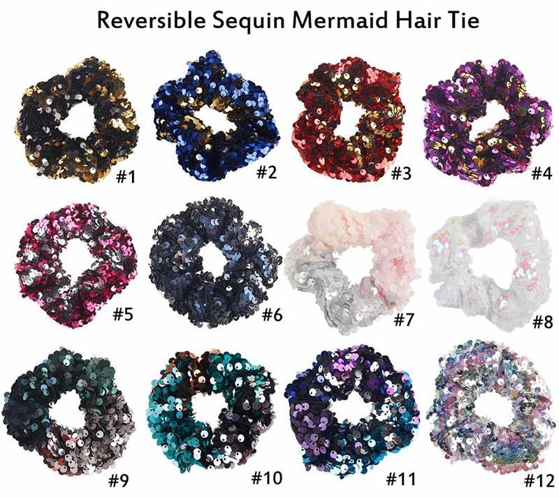 Cute Girl Русалочка пришивания Rubber Hairband высокого качества способа популярного стиля Красивые цвета Двойные девушки аксессуары для волос Новый стиль Hairband