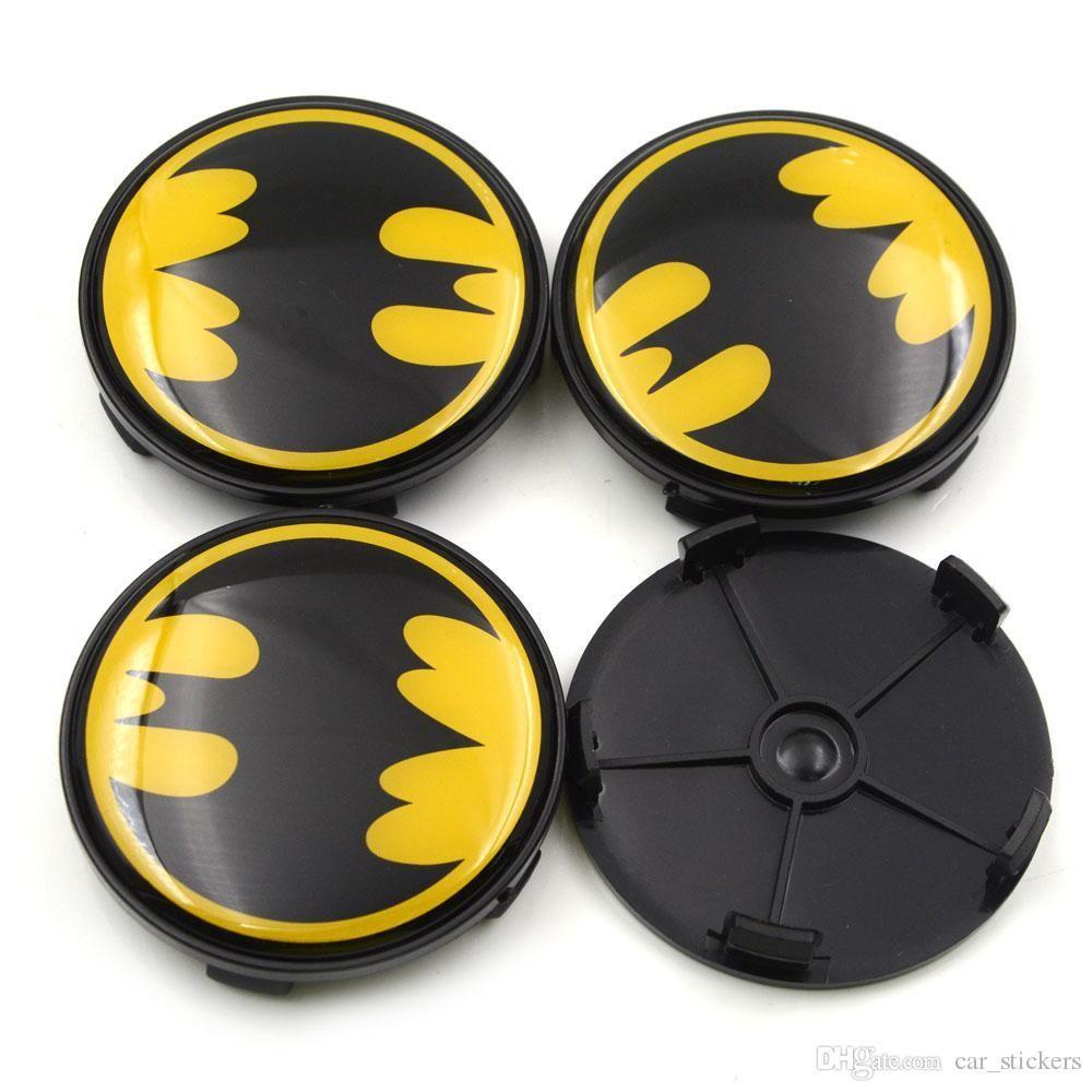 4pcs /Lot 68mm Batman Racing Black Car Wheel Center Hub Caps For Bmw Auto Styling Wheel Centre Cap Emblem