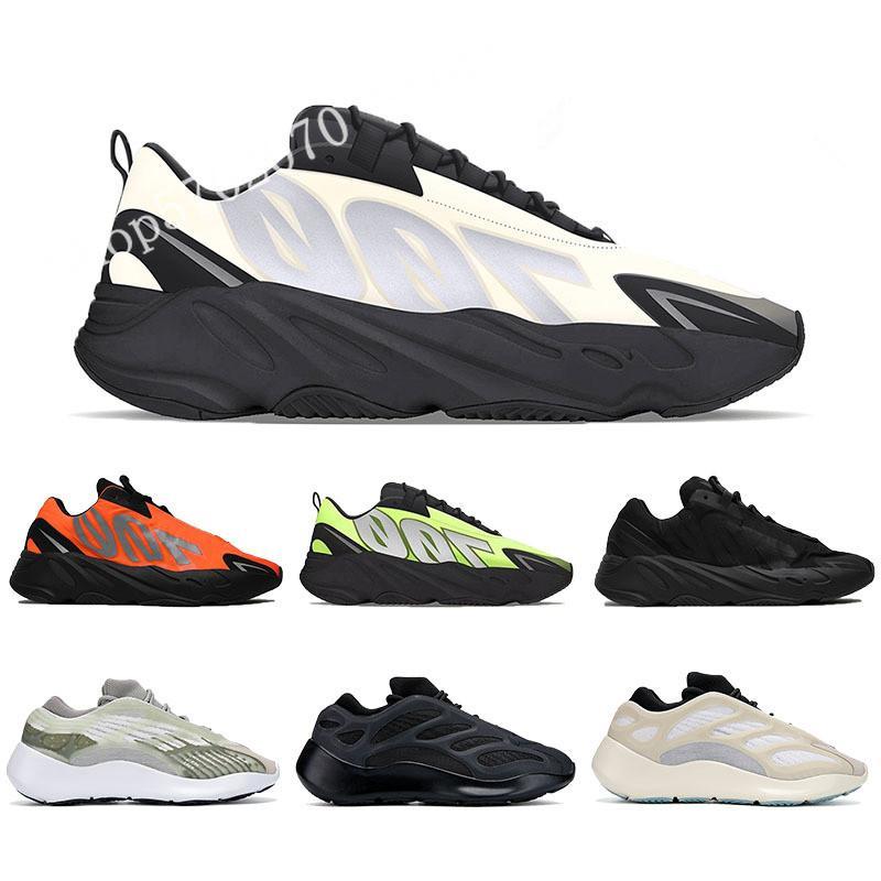 700 MNVN Männer Frauen Laufschuh 2020 Kanye West Sneaker orange Triple Black Phosphor Grau Knochen Weiß Spitzenmens-Frauen-Sport-Trainer WithBox