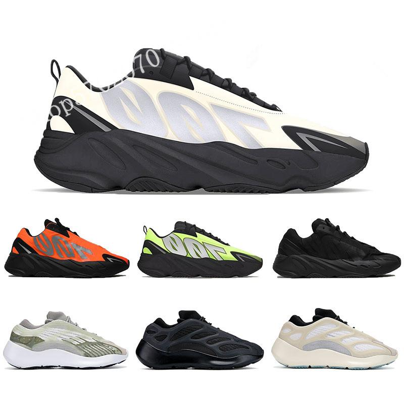 700 MNVN Homens Mulheres Running Shoes 2020 Kanye West Sneaker Laranja Triplo Preto Phosphor Grey Osso Branco TOP Mens Womens Esporte Formadores Withbox