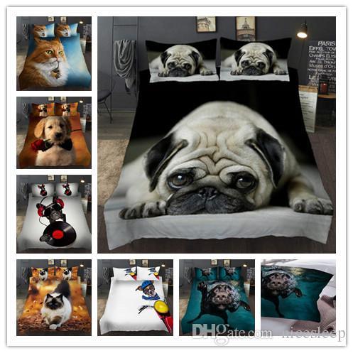Juegos de cama con estampado de animales en 3D cómodas fundas nórdicas regalos de lunes a viernes Twin Full Queen Size para niñas / niños / adultos