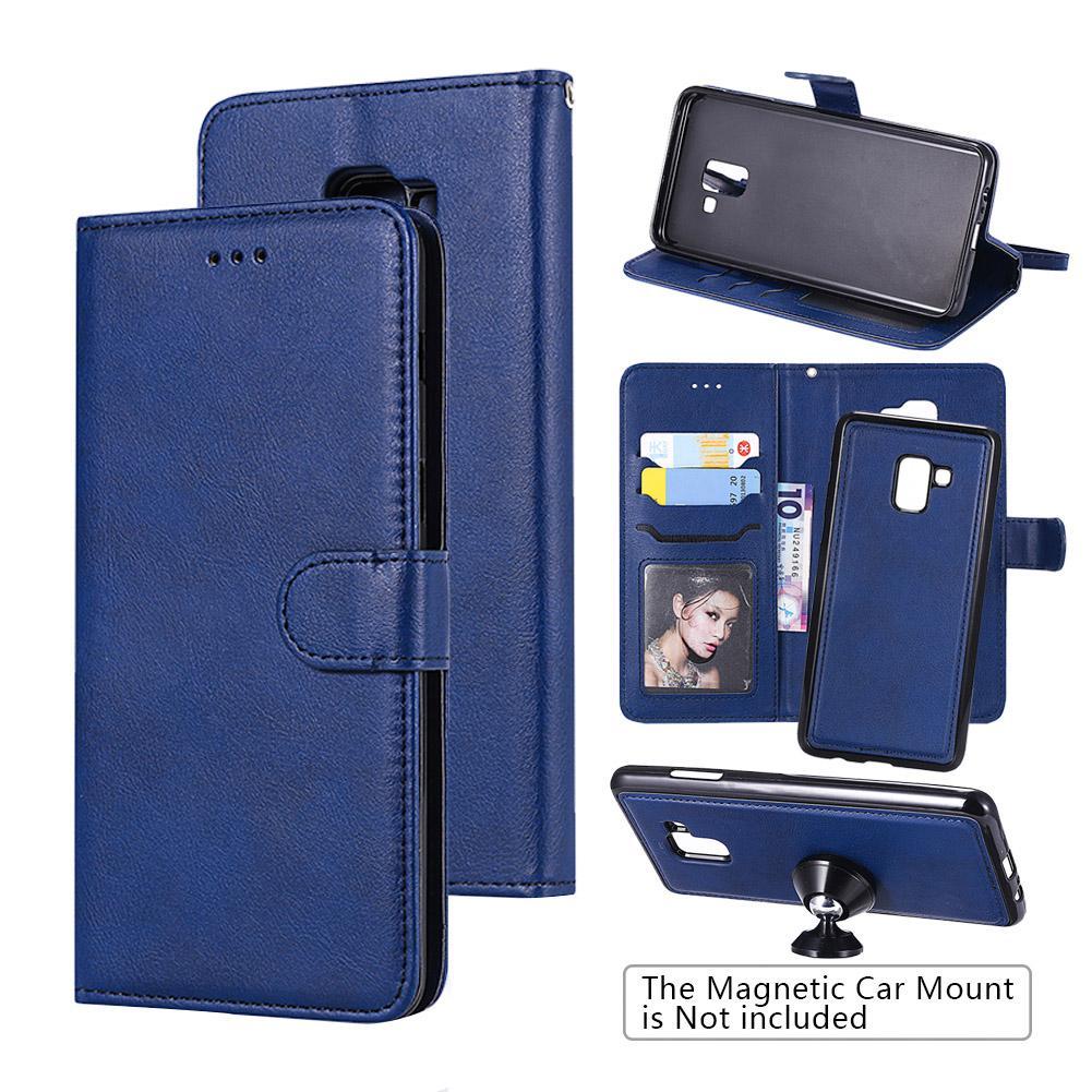 Samsung Galaxy A8 Phone Case com titulares de cartão, 2 em 1 de couro destacável Folio Wallet Cover Para Samsung Galaxy A8 Plus 2018