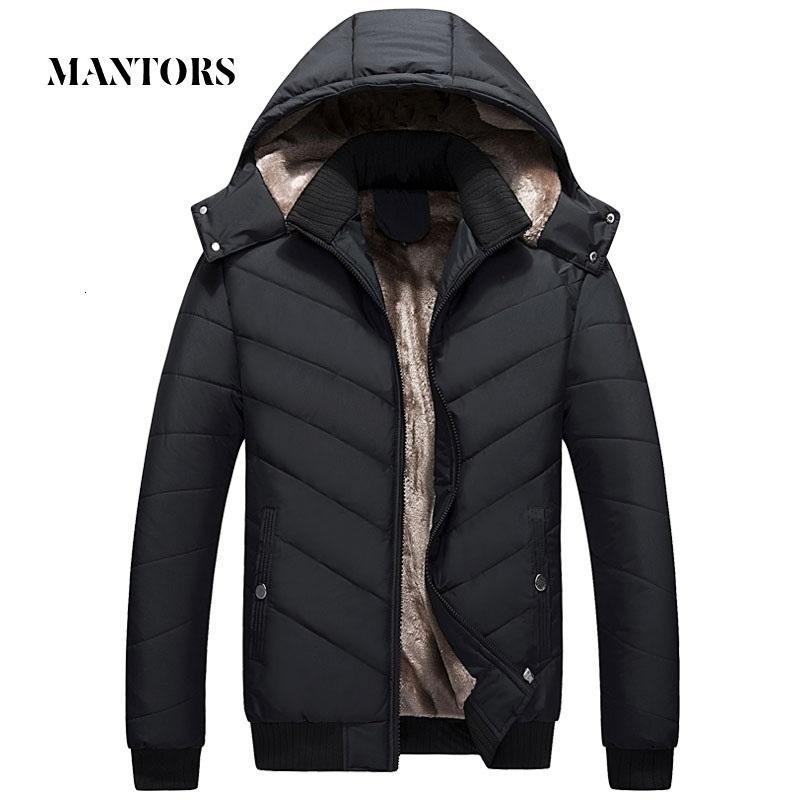 Hiver Veste Parka chaud Toison Casual manteau avec capuche Hommes Coton Slim épais duvet Veste Homme Zipper Outwears Casacos Masculino CJ191129