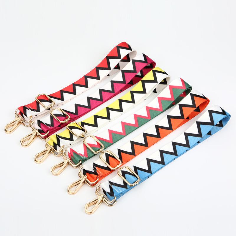 bayanlar çapraz vücut tek omuz askısı vaka çantası aksesuarları için olanağı sağlayan 3,8 cm'lik geniş omuz askısı moda çarpışma renk çıkarılabilir zincir
