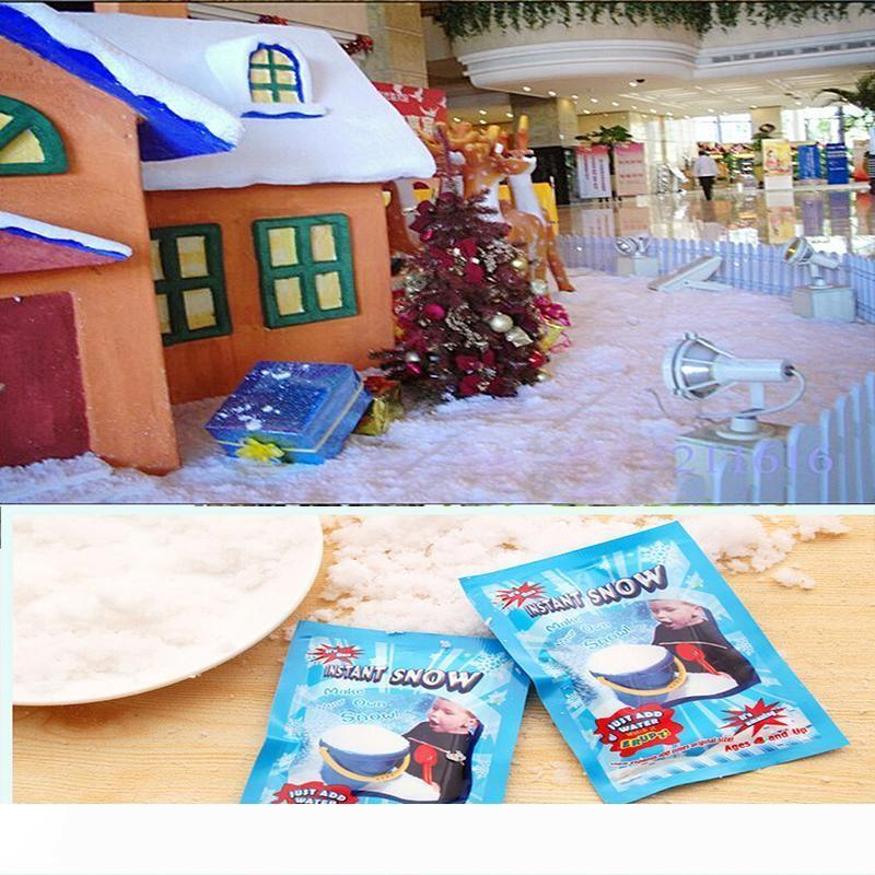 Christmas Decorations Instant Snow Magic Prop Instant Artificial Snow Powder Simulation Fake Snow For Night Party decorate