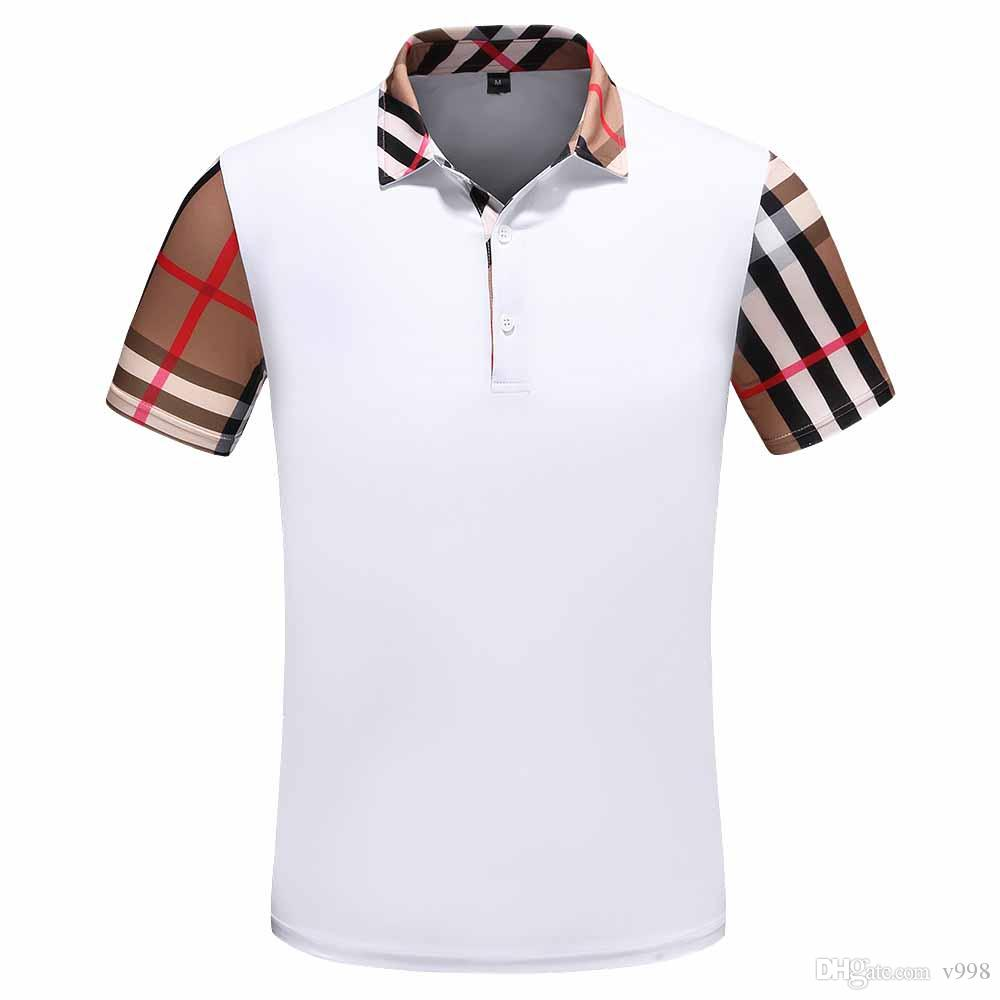 2020 Fashion Meduse Herren Polos Europa Paris Patchwork Männer-T-Shirt der Männer Designer POLO Brief Casual Men Kleidung Cotton Tee Luxus-Polo