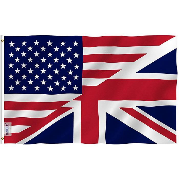 США Америка Великобритания Дружба 3x5ft Флаг, Национальные висячие 100% полиэстер, Открытое украшение, партия украшение, товары для парадов, Фести