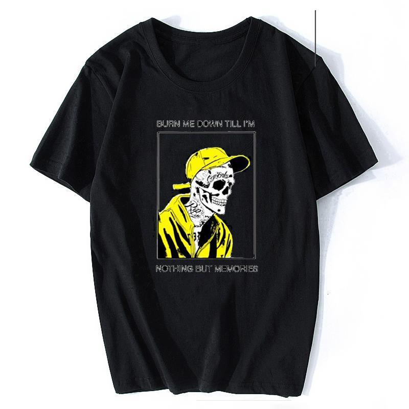 Nuovo Rapper Lil Peep maglietta rap hiphop Lil Peep uomini freschi T-shirt stampa grafica Tee Hip Hop Tops Camisetas Hombre
