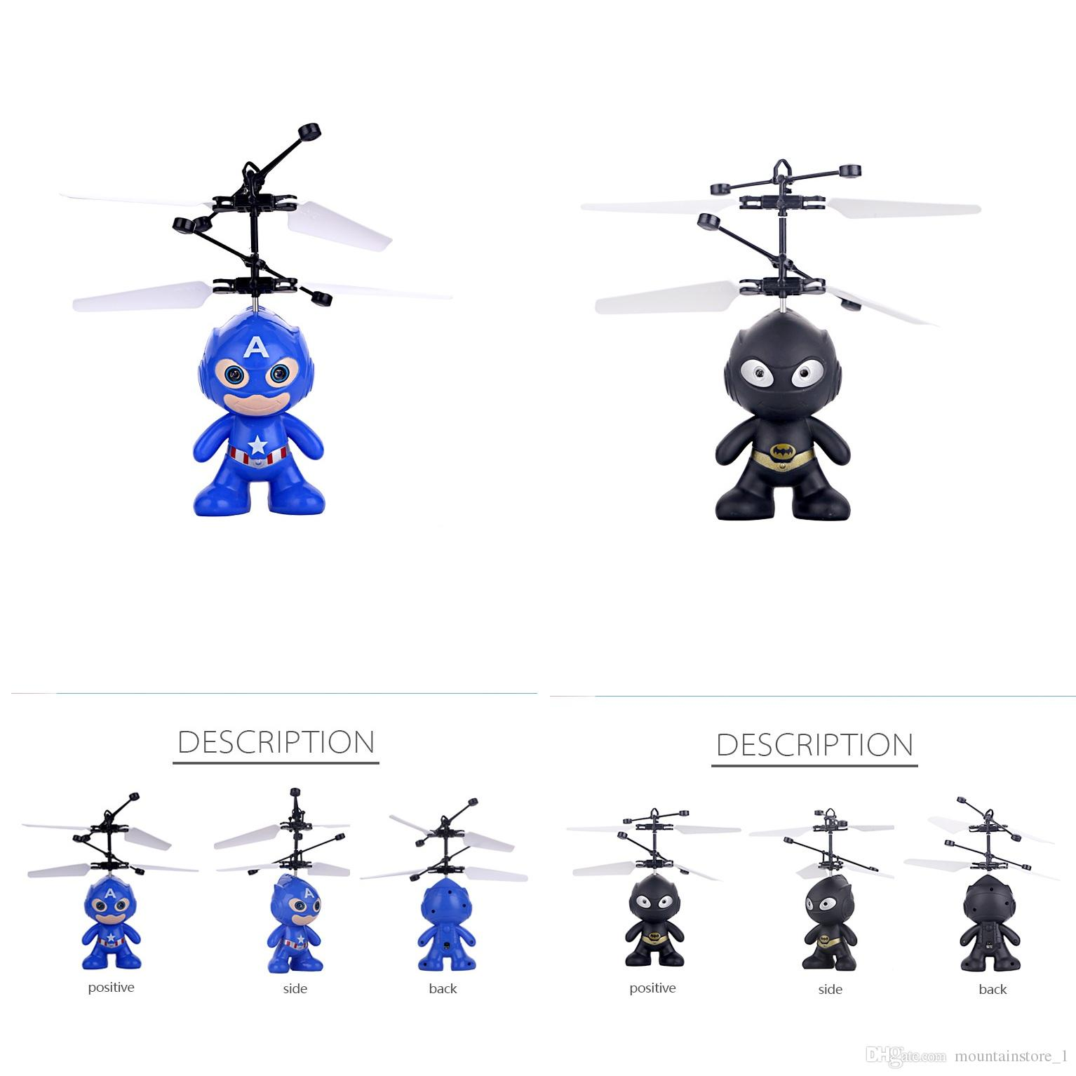 Minion drone RC Helicopter Aircraft Mini drone Fly Flashing helicopter Hand Control RC Toys Minion Quadcopter Dron LED Kids Toys (Super)