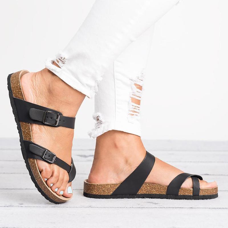 Summer Beach elegante stile di alta qualità Sandali donna Sandali piatti diapositive Chaussures Clog Inoltre flip-flop casual scarpe da donna infradito