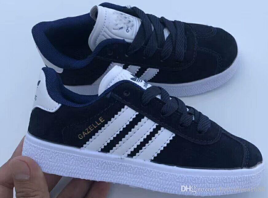 hot 2019 Gazelle Casual sapatas lisas Sneakers Para unissex sapatos de caminhada Trainers 25-35