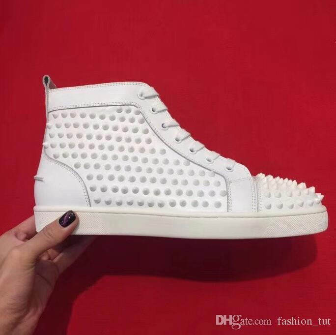 8c8d37b4b Christian Louboutin CL Phone Photo 1:1 Original Red Bottom Shoes Mens  Womens Designer Luxury Sneakers Rivets Genuine Leather Boots High Heels  Slippers Suede ...