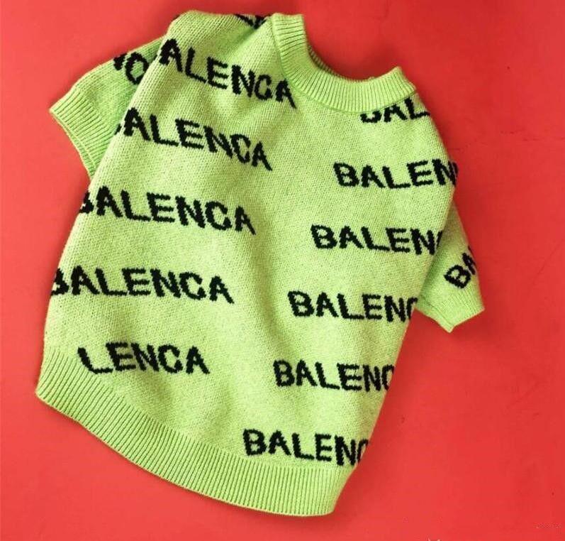 Trendy Carta Bordados Animais Camisolas Costumes Moda Soft Touch Pet Cotton Coats INS Estilo Elastic peluche Vestuário