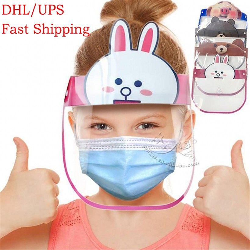 DHL trasporto veloce Bambini Visiera regolabile completa facciale della mascherina di protezione antipolvere antivento bambini affrontano copertura di protezione FY8037