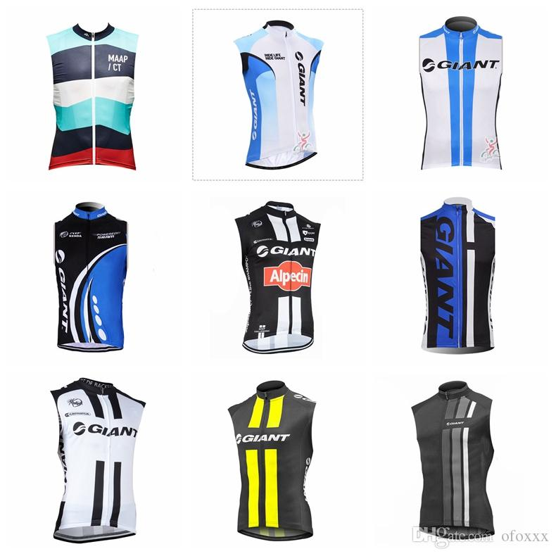 GIANT MAAP team Cycling Sleeveless jersey Vest men Sleeveless Clothing Bicycle Clothes MTB Bike maillot Ropa Ciclismo S123010