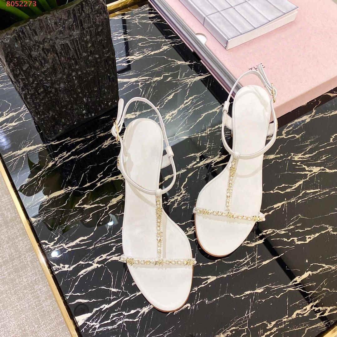 kabalık gelen Zarif serbest şık bayanlar için yüksek kaliteli kolayca eğlence İnci sınır dekorasyon yüksek topuk sandalet