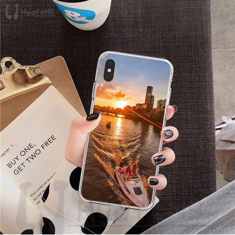 2020 encantadora puesta de sol TPU funda de teléfono suave para iPhone 11 pro XS MAX 8 7 6 6S Plus X 5 5S SE XR cubierta al por mayor