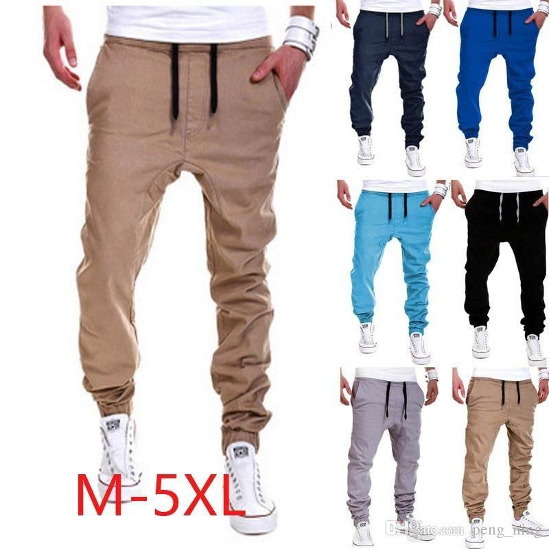 새로운 고품질 남자의 스포츠 조깅 힙합 조깅 피트 니스 바지 캐주얼 바지 바지 sweatpants M-XXL