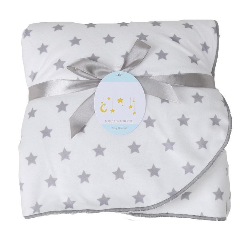 Детские одеяла Нового сгущают двухслойного Мягкого коралл руно Infant Пеленального Bebe Envelope коляска Wrap Новорожденных Постельные принадлежности Одеяло CX200704