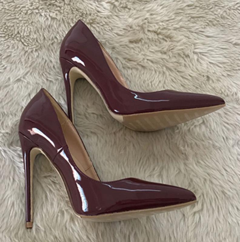 Kızlar Bayan Elbise Ayakkabı Yeni 8 ile 10 cm 12cm Seksi Sivri Burun Parti Moda Kristal Büyük Boyut Yüksek Kalite topuklu Yüksek Topuklu