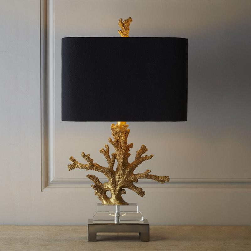 الحديث الذهب المرجان الراتنج الجدول مصابيح الأزياء نوم السرير مصباح E27 حامل مكتب قراءة قاعدة كريستال أضواء abajur الفقرة قورتو