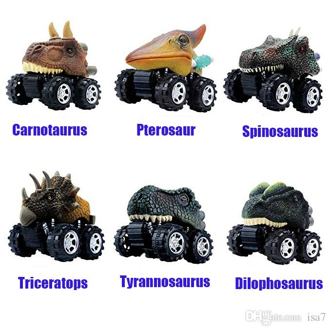 2020 Pull Back Dinosaur Car 6 Pack Dino Cars Set Animal Vehicles Monster Trucks Toys For 2 8 Year Old Toddlers Boys Girls From Isa7 7 03 Dhgate Com