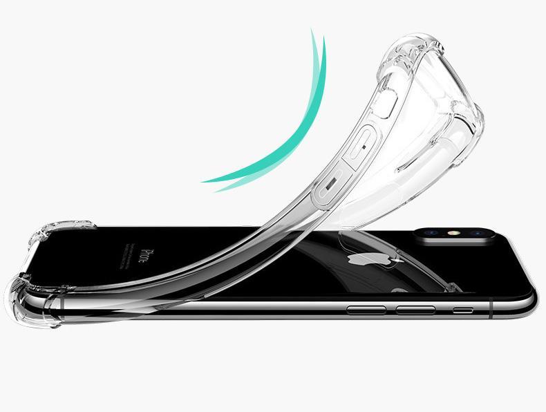 clair TPU cas pour Iphone X Xs Max Xr 6 7 8 plus couverture arrière antichoc Transparent Doux Épaissir Gel Clair Caoutchouc Bulky Corners Bulk Corning