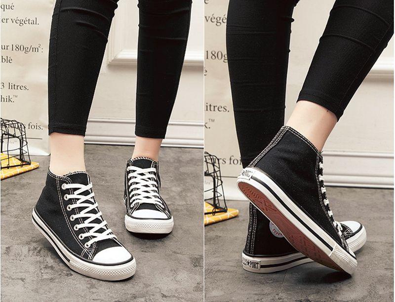 قماش أحذية الأيرلندية hooligan الكلاسيكية عالية أعلى الدانتيل يو بي إس سنيكر للرجال النساء