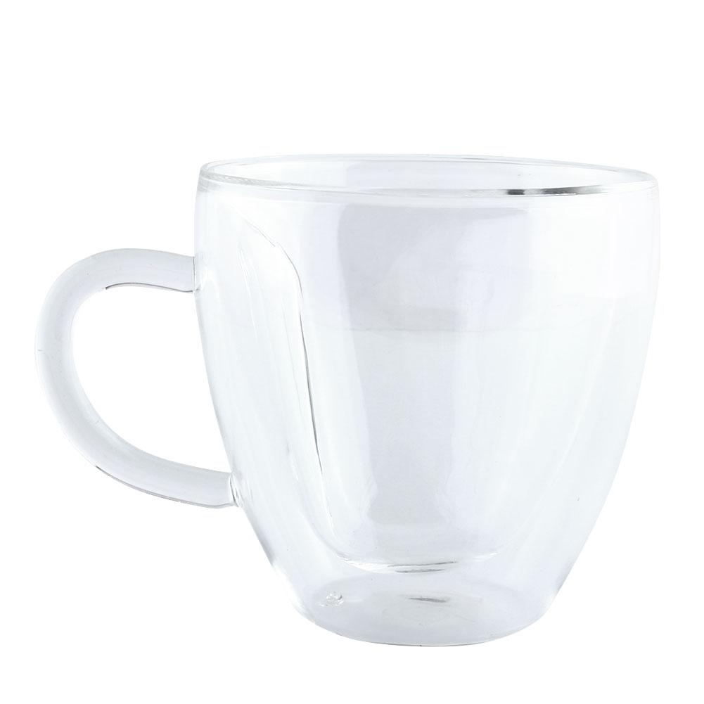 240ml Heart Double Wall Layer Clear Transparent Glass Cup Coffee Mug Happy Birthday Gift Drop shipping