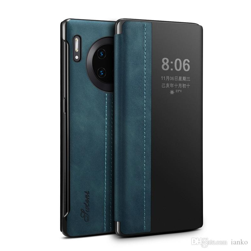 LWC16 SUTENI astuto di lusso Clear View flip antiurto di caso per Huawei Mate 30 copertura protettiva in pelle con sonno intelligente per il Mate 30 Pro