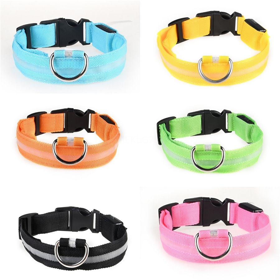 2020 New Designer Dog Cat Led Collar Fashion Adjustable Pets Collars Taction Gradual Color Bell Led Collar Stock Shipping Free #665
