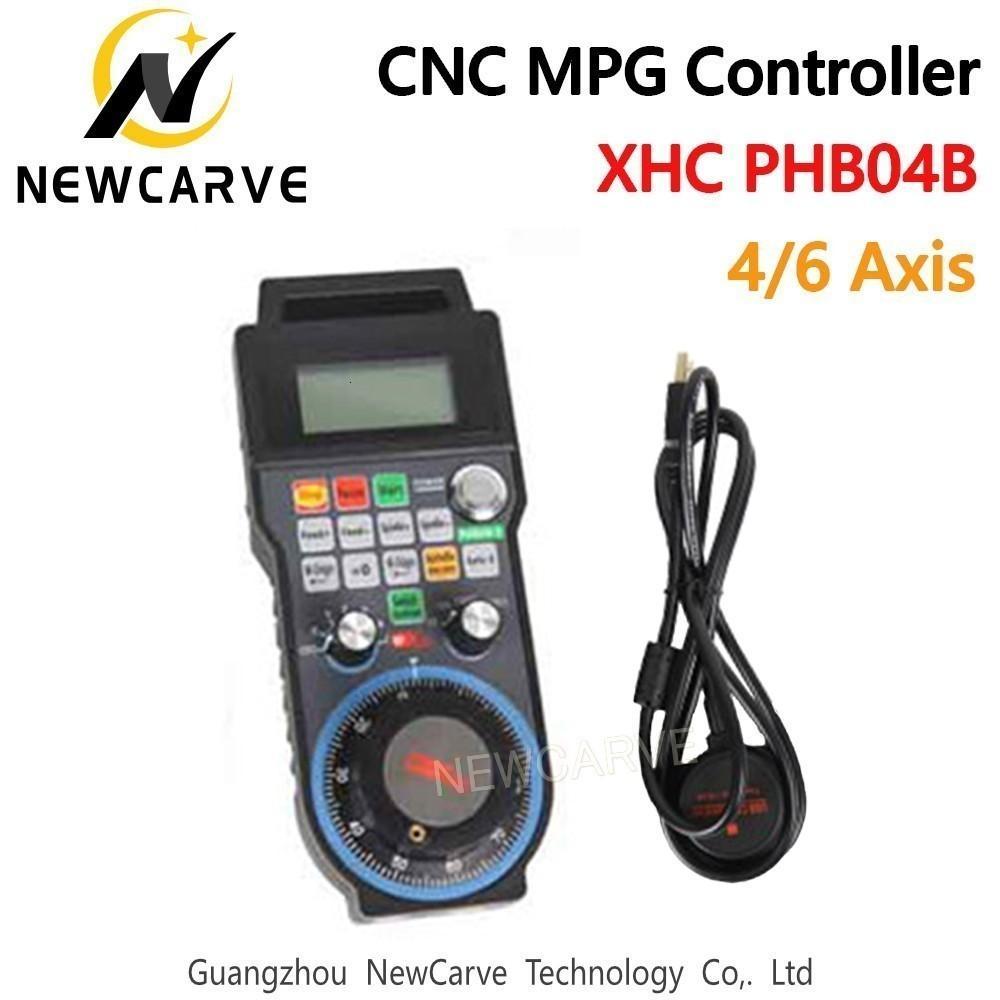 Manual XHC CNC 4 6 Eje Wireless Controller Generador de pulsos pop para el CNC de la máquina Sistema Puerto USB Soporte programable NEWCARVE