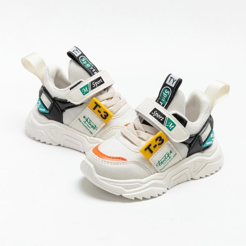 Дети Casual Спортивная обувь Мода дышащая против скольжения кроссовок Детских мягких подошв 5