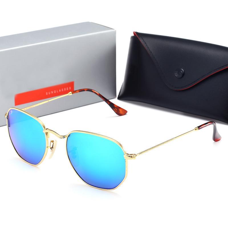 2020 Nueva Polaroid lente de cristal de la marca gafas de sol mujeres de los hombres de la manera redonda Ópticas multicolor revestido gafas de sol de las mujeres UV400 T200628