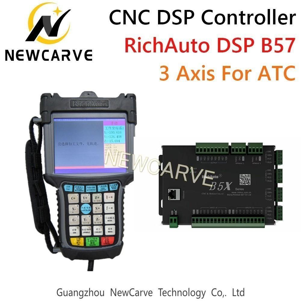 Cambio RichAuto DSP B57 controlador CNC B57s B57e 3 controlador de eje para herramienta automática recta herramienta de línea de la máquina CNC Newcarve